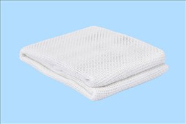 Cellular Blanket Soft touch 100% polyester 180cm x 230cm colour white