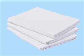 Duvet Cover Polycotton single 135cm x 200cm 140gsm white with envelope end