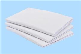 Flat Sheet Fine Weave Polycotton 180cm x 275cm 140gsm colour white