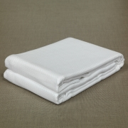 Cellular Blanket Coverlet Throw Bedspread 100% Cotton in White