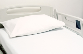"Poly-Cotton Flat Sheet White 180 x 275 cm (71 x 108"") Single To Fit Single Standard Beds"