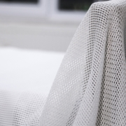 Honeycomb Cellular Blanket White Single 180 x 230 cm in White