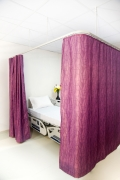 Antibacterial Fire Retardant Cubicle Curtain Pattern Matched, Calm Leaf Design Printed Single Sided